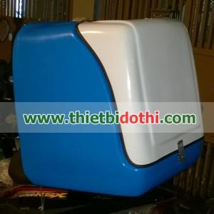 thùng chở hàng sau xe máy loại trung nhựa composite