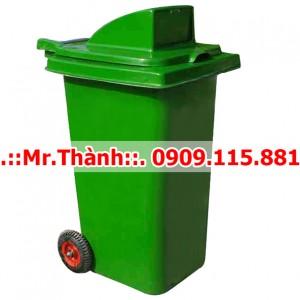 Thùng Rác Nhựa 120 Lít Nắp Hở Composite