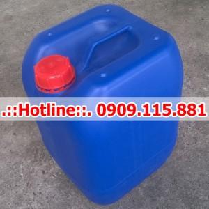 Can Nhựa 25 Lít Vuông Màu Xanh