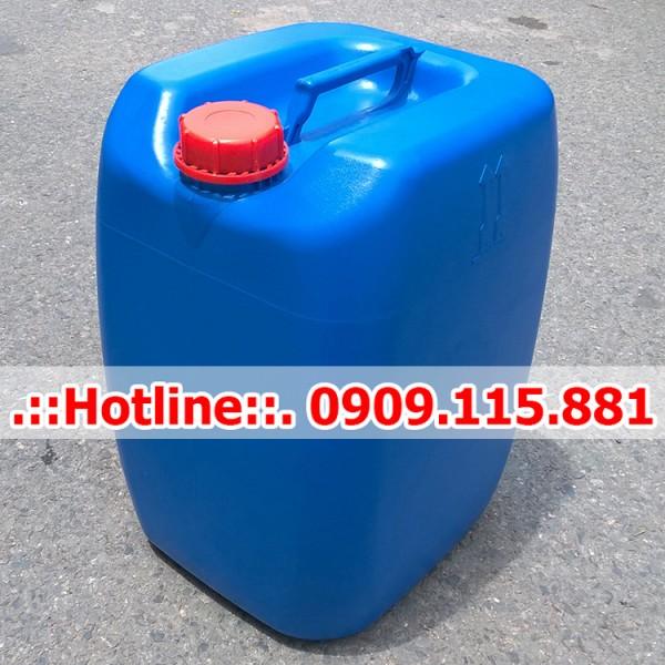 Can Nhựa 30 Lít Vuông Màu Xanh