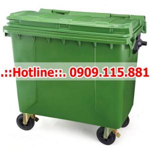 Xe Thu Gom Rác 660 Lít 4 Bánh Xe Nhựa HDPE