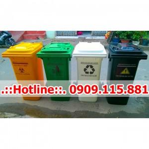 Thùng Rác Y Tế 120 Lít Nhựa HDPE